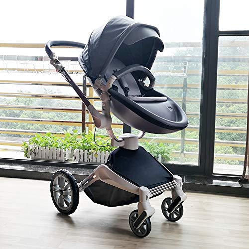 Baby Stroller 360 Rotation Function Grey