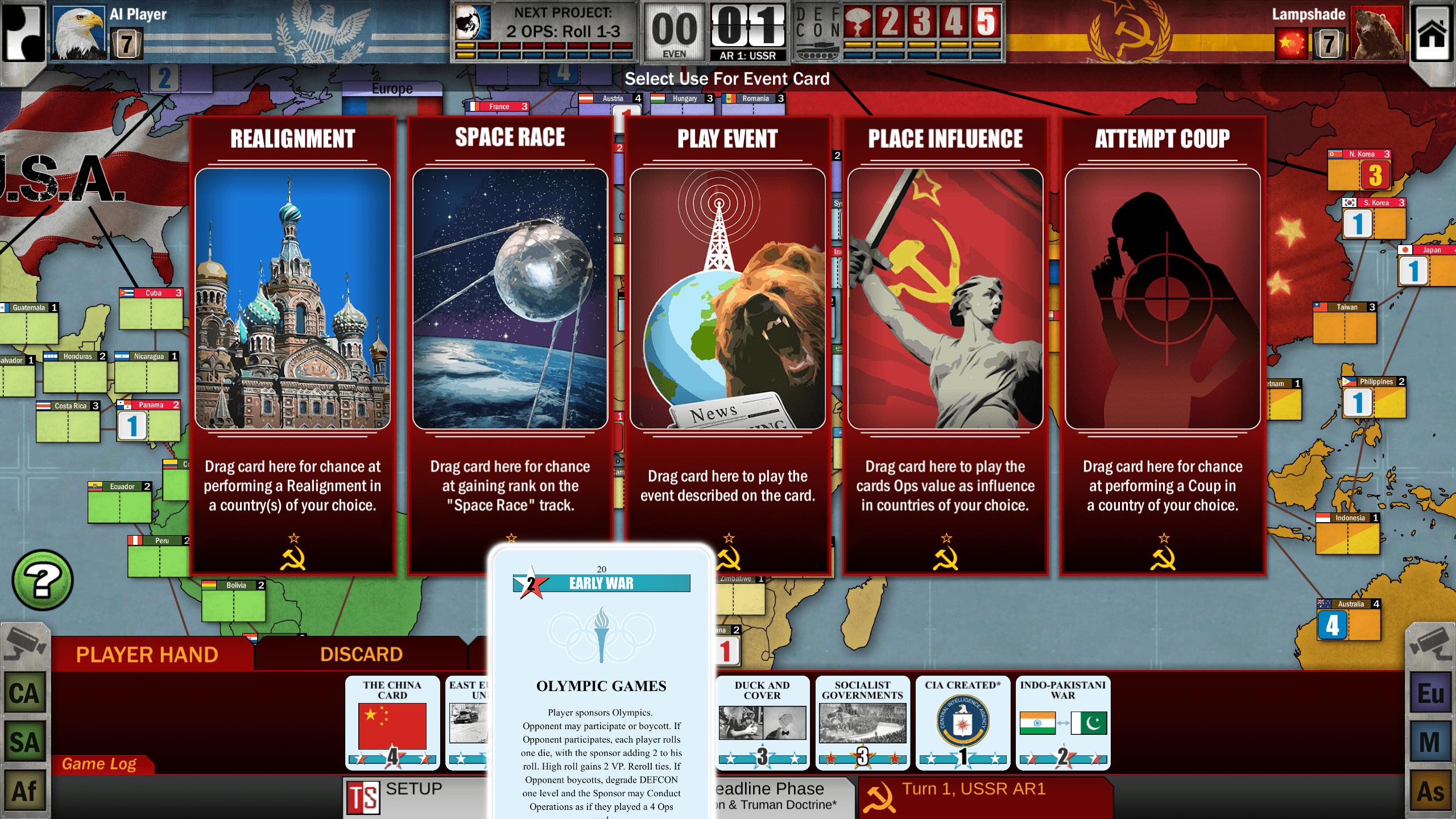 Twilight Struggle (Area Control, Soviet Union)