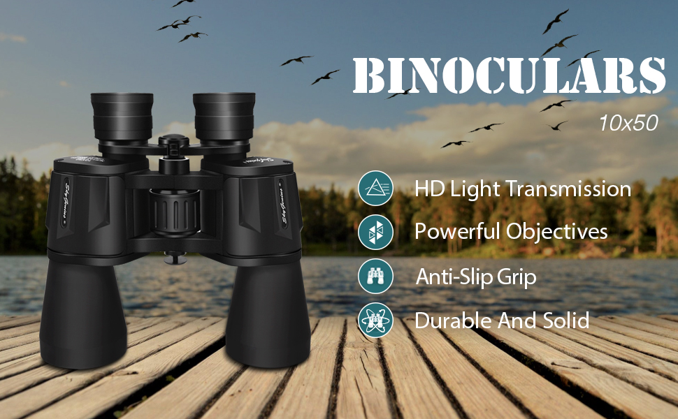 Skygenius 10x50 powerful full-size binocular