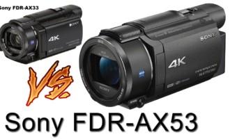 SONY FDR AX-33 VS AX-53
