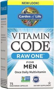 Garden of Life Vitamin Code Men Raw Whole Food Multivitamin
