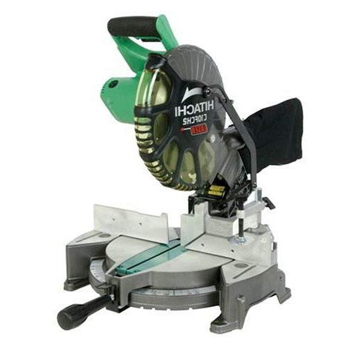 Hitachi Miter Saw C10FCH2 15-Amp 10-inch Single Bevel Compound with Laser Marker