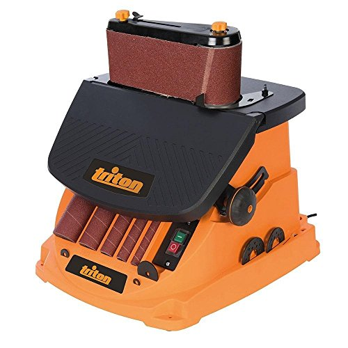 Triton TSPS450 3.5Amp Cast Iron Top Oscillating Spindle Sander, Orange