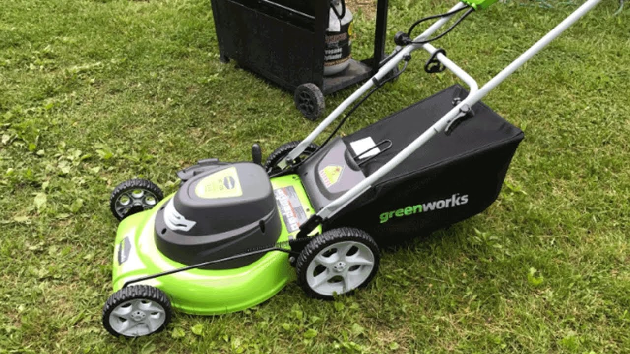 Greenworks 3-in-1, 12 Amp Electric Corded Lawn Mower