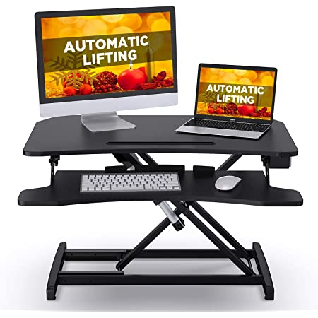 ABOX Electric Powered Lifting Standing Desk Converter