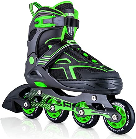 2PM SPORTS Torinx Adjustable Inline Skates for Kids, and Beginners