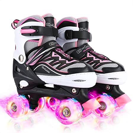 Otw-Cool Adjustable Roller Skates for Girls and Women