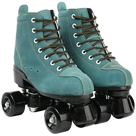 XUDREZ Cowhide Roller Skates for Women and Men